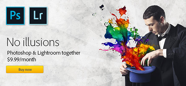 Available Worldwide! Get New Adobe Photoshop CC plus Lightroom CC for Just US$9.99 a Month (Regular Ongoing Price)