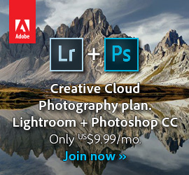 Get New Adobe Photoshop CC 2015 plus Lightroom 6/CC Desktop and Mobile for Only US$9.99/Month! (Ongoing Price)