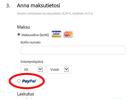 Using PayPal to Buy an Adobe CC Subscription Plan