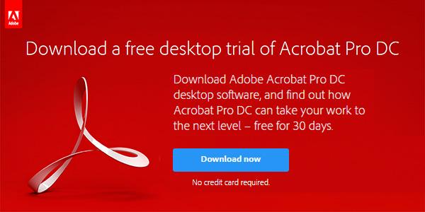 Download New Adobe Acrobat DC Free Trials