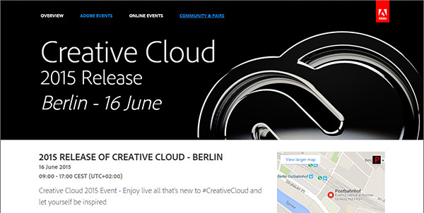 Learn More About the Free Online Adobe CC 2015 Launch Event in Germany