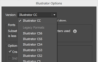 How to Downsave an Adobe Illustrator Document to an Older Version