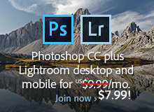 Exclusive Discount: Get New Adobe Photoshop CC 2015 plus Lightroom 6/CC for Just $7.99 a Month! Offer Available Worldwide
