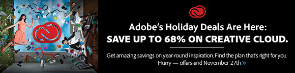 Adobe Black Friday Deals: Save Up to 68% on Creative Cloud!