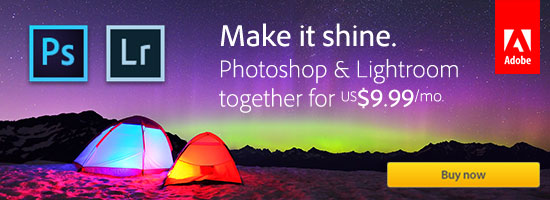 Worldwide Offer: Get New Adobe Photoshop CC plus Lightroom CC for Just $9.99 a Month (Regular Ongoing Price)