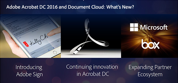 Compare Adobe Acrobat DC 2016 vs. Older Versions - What Features are New?
