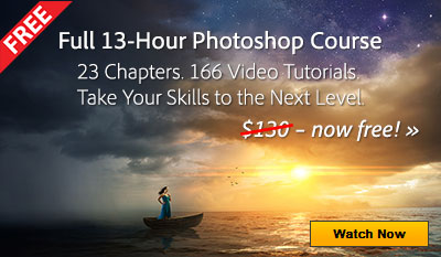 Get Trained on Photohop for Free! Get Complete 13-Hour Course Now
