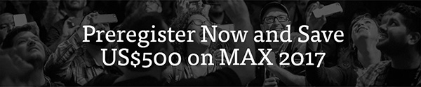 Save $500 - Over 30% - With This Adobe MAX 2017 Preregistration Discount!