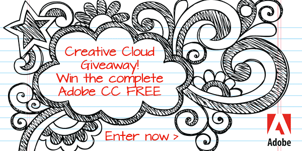 Creative Cloud Giveaway! Win the Complete Adobe CC Release FREE