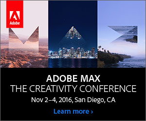 Adobe MAX 2016—The Creativity Conference: Learn More!