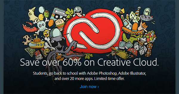 how to get the student plan for adobe cc