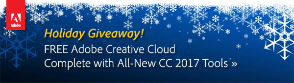 Win the New Adobe Creative Cloud 2017 Release – FREE Full Membership!