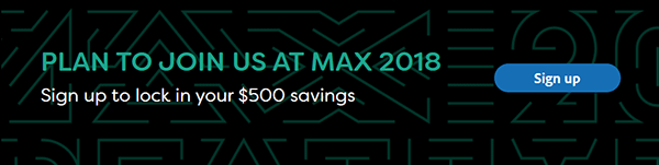 Save $500 - Over 30% - With This Adobe MAX 2018 Preregistration Discount!