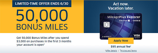 The Chase MileagePlus Explorer Card: See how you can get 50K+ bonus frequent flyer miles and fly for free!