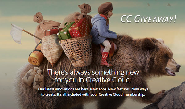 Creative Cloud Giveaway! Win the Full Adobe CC 2017 Release