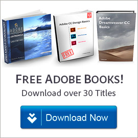 Free! Download over 30 great Adobe books at no charge, learn all products