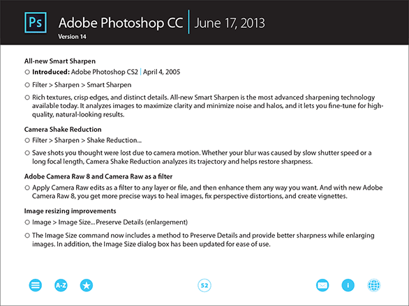 Compare All Differences Between Any Two Versions of Adobe Photoshop