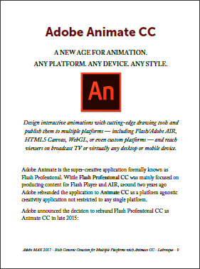 Download the New Guidebook: 'Creating Multiplatform Animations with Animate CC'