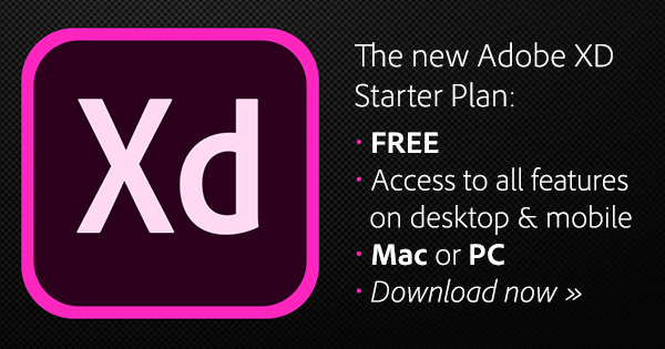 Download the Free, Full Version of Adobe XD with the New Starter Plan