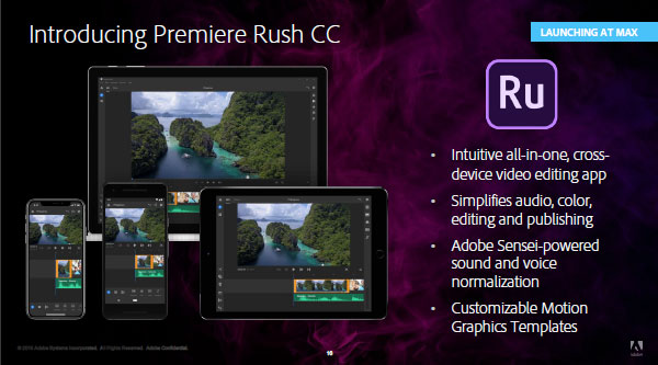 Introducing Adobe Premiere Rush CC 2019 - Try the Free Starter Plan!