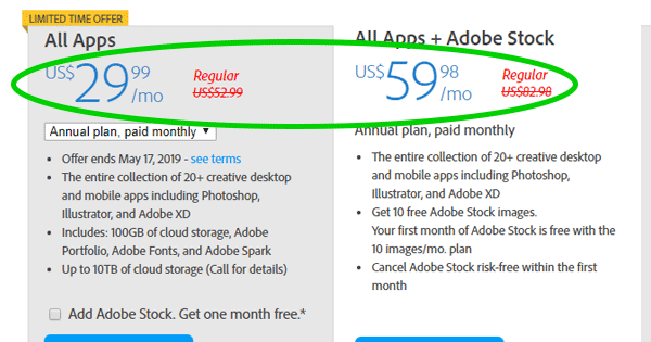 adobe creative cloud subscription terms