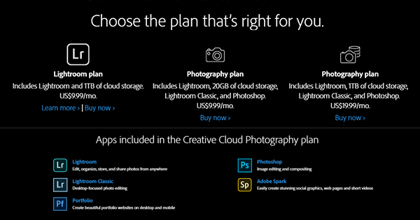 Get Photoshop CC + Lightroom CC + More for $9.99/Month with the Adobe Photography Plan