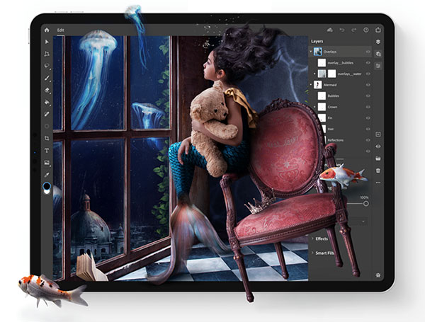 New Adobe Photoshop on iPad 1.0 Is Out!