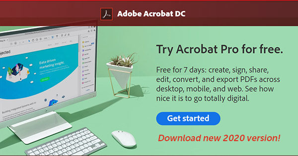 Download the Adobe Acrobat DC Free Trial