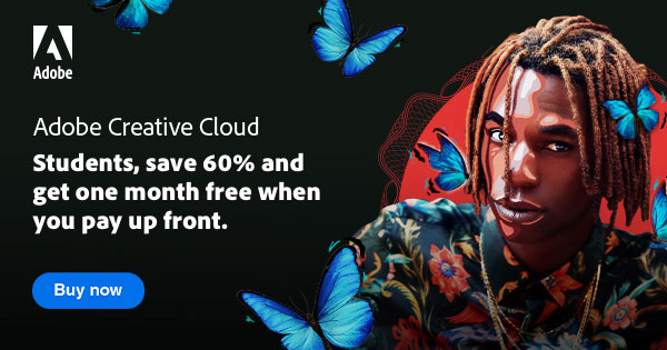 Adobe Back-To-School! You Can Get 60% off plus One Month FREE When You Sign up for Creative Cloud