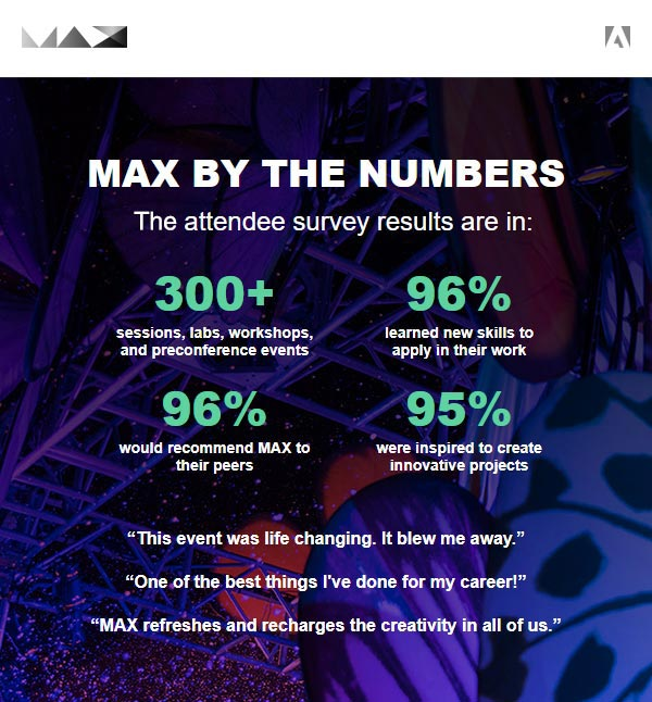 Learn More about MAX: The World's Premier Creativity Conference