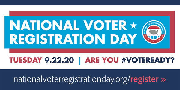 Today is National Voter Registration Day in the U.S.! Please register to vote, if you haven't already →