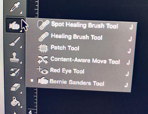 The New 'Add Bernie Sanders Tool' in Adobe Photoshop