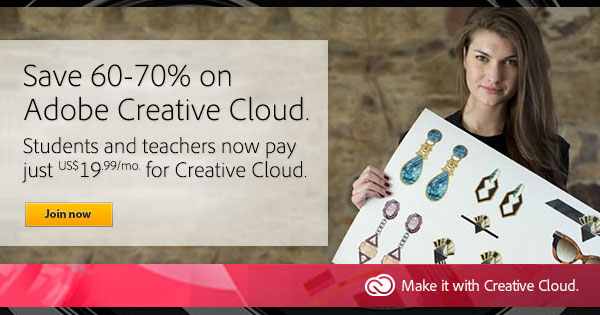 Get the New Creative Cloud for $19.99/Month - Save 60%-70% Off the Regular Price, No Promo Code Needed
