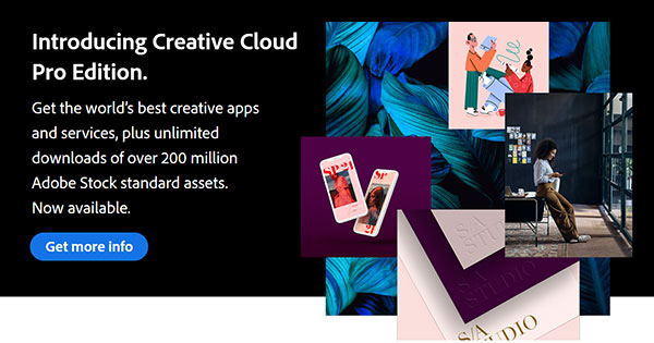 Learn More About the New Creative Cloud Pro Edition