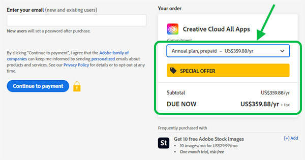 New Special Offer: Save 40%-45% on the Complete Adobe Creative Cloud